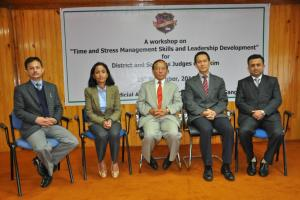 "A workshop on ""Time and Stress Management Skills and Leadership Development"" for District and Sessions Judges of Sikkim on 19-11-2016"